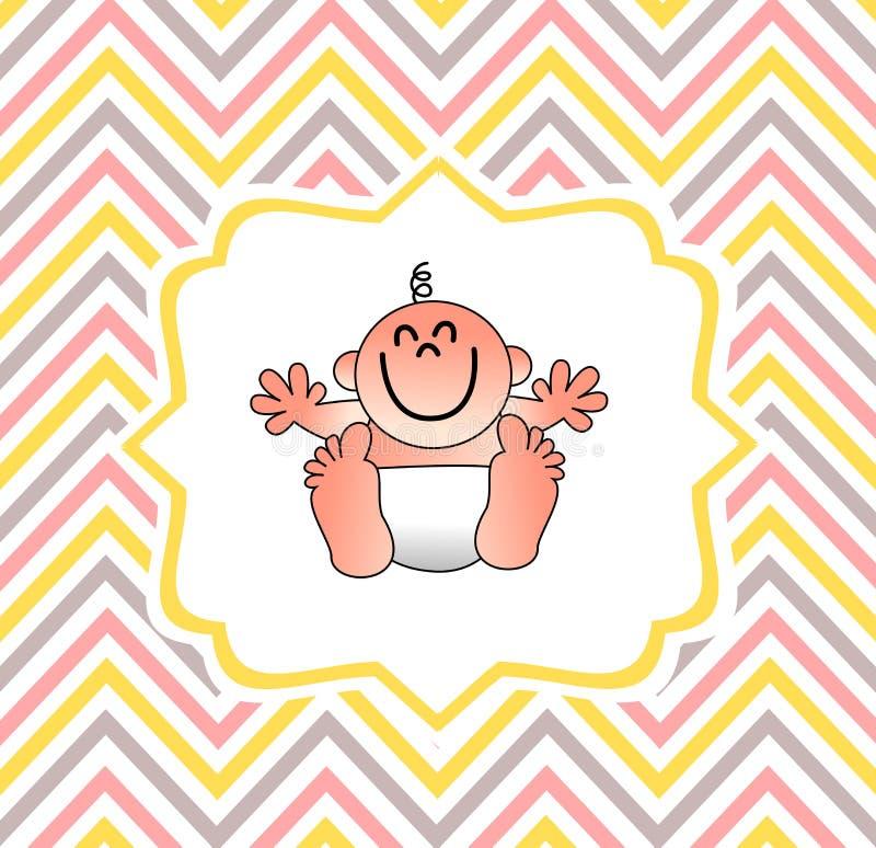 Eine lustige Babypartyabdeckung stock abbildung