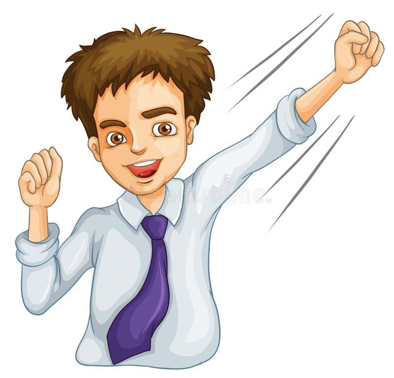 Eine Männliche Geschäftsikone Lizenzfreies Stockfoto