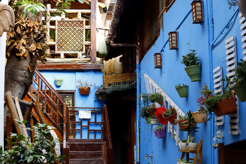 Eine malerische Ansicht der historischen Stadt von Lijiang, Yunnan, China stockfoto