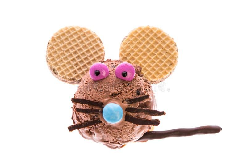 Eine Maus gemacht aus Eis heraus lizenzfreie stockfotos