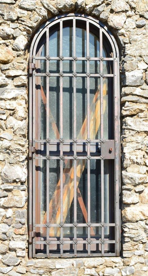 Eine mit einem Gatter versehene Tür lizenzfreie stockfotos