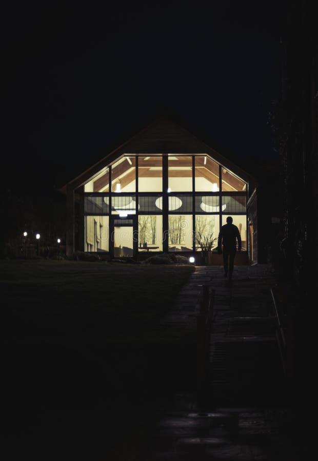 Eine Nachtszene stockfoto