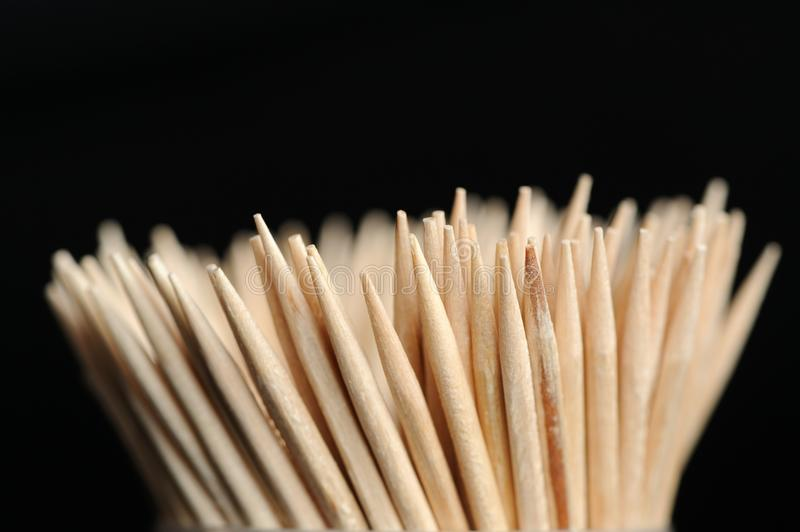 Hölzerne Toothpicks stockfotografie