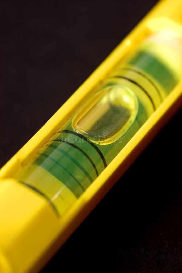 Eine Nahaufnahme einer Luftblasenspiritusstufe stockfoto