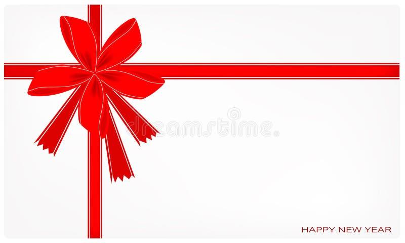 Eine neues Jahr-Karte mit rotem Band vektor abbildung