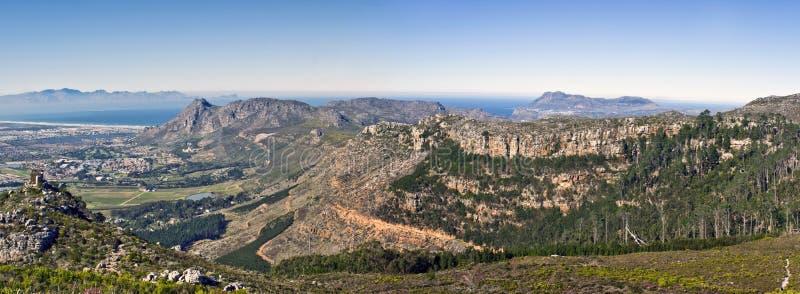 Eine panoramische Ansicht über die südlichen Vororte stockfotos