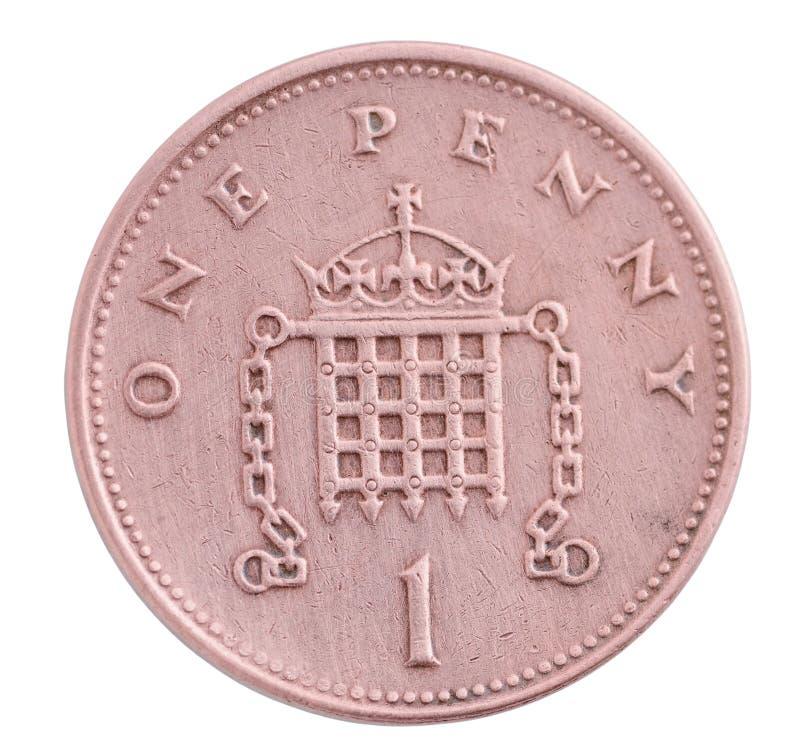 Eine Pennymünze lizenzfreies stockbild