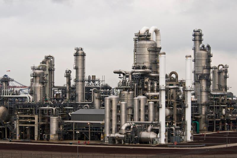 Eine petrochemische Fabrik lizenzfreies stockbild