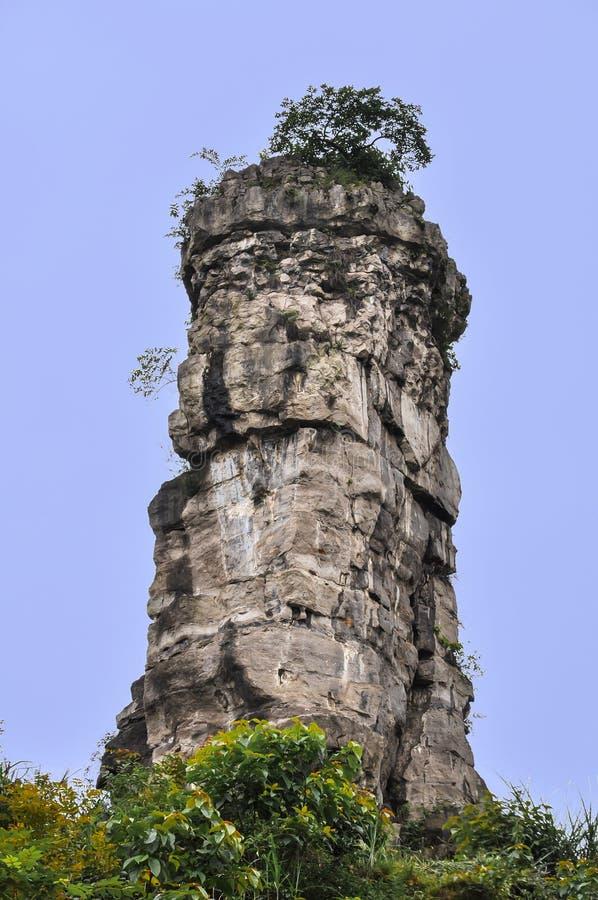 Eine phallische Bergspitze stockfotos