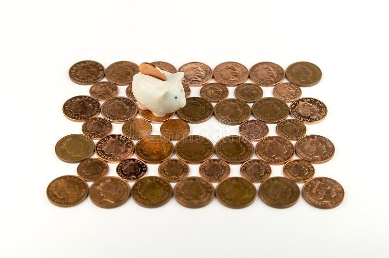 Eine Piggy Querneigung lizenzfreie stockfotografie