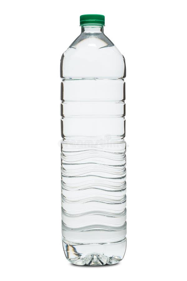 Eine Plastikflasche mit einem auf weißem Grund isolierten Clipping-Pfad lizenzfreie stockbilder