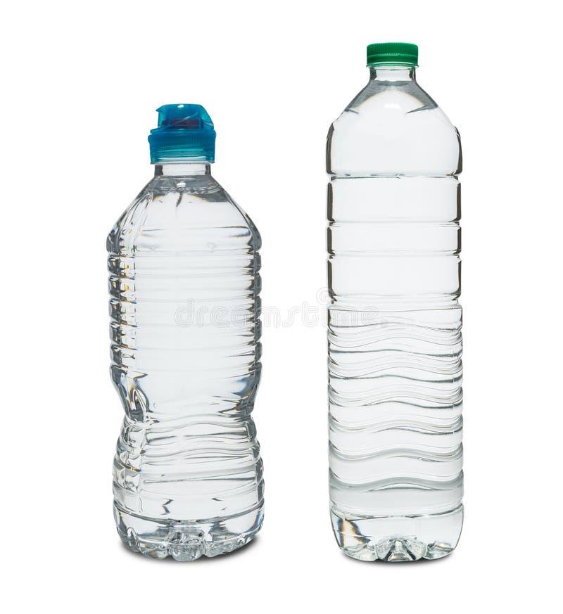 Eine Plastikflasche mit einem auf weißem Grund isolierten Clipping-Pfad lizenzfreies stockfoto