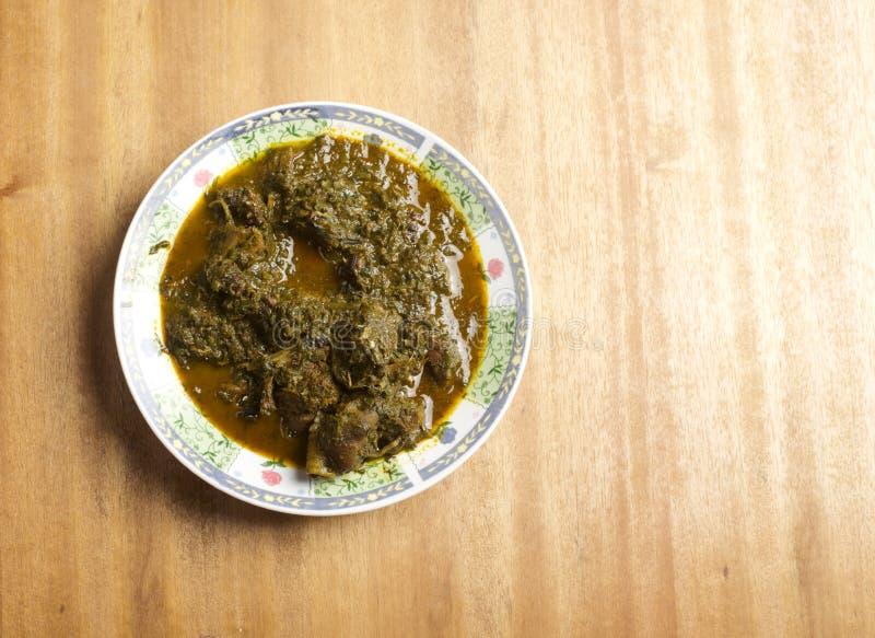 Eine Platte von Afang-Suppe stockbilder