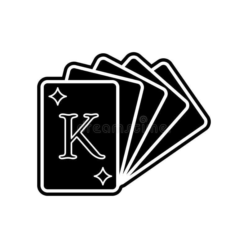 eine Plattform der Spielkarteikone Element des Kasinos f?r bewegliches Konzept und Netz Appsikone Glyph, flache Ikone f?r Website vektor abbildung