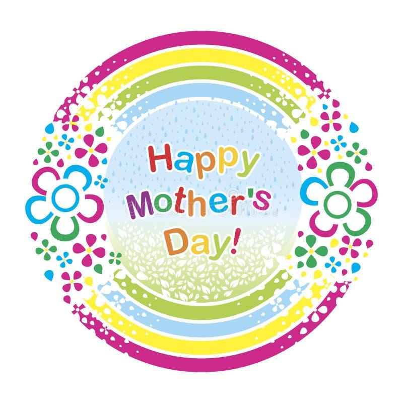 Eine Postkarte zum Mutter ` s Tag vektor abbildung