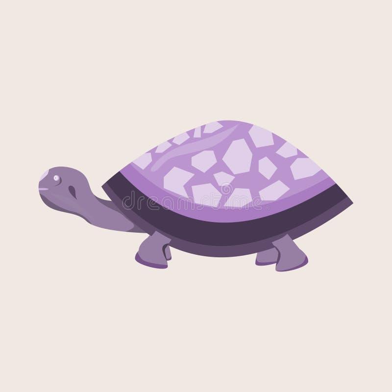 Eine purpurrote Schildkrötenillustration des wilden und netten Tieres lizenzfreie stockbilder