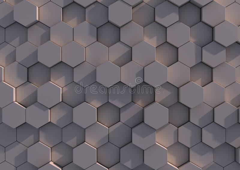 Eine Reihe Hexagone stock abbildung
