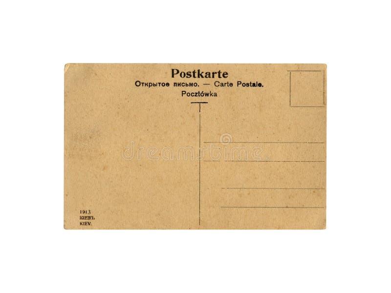 Eine Retro- Postkarte der Weinlese, getrennt stockfotos