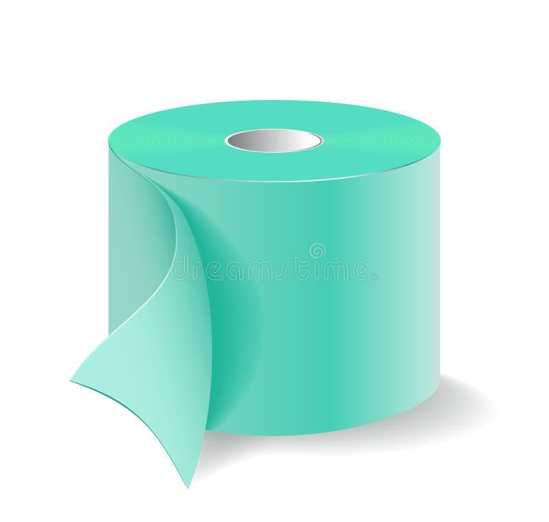 Eine Rolle des Toilettenpapiers. lizenzfreie abbildung