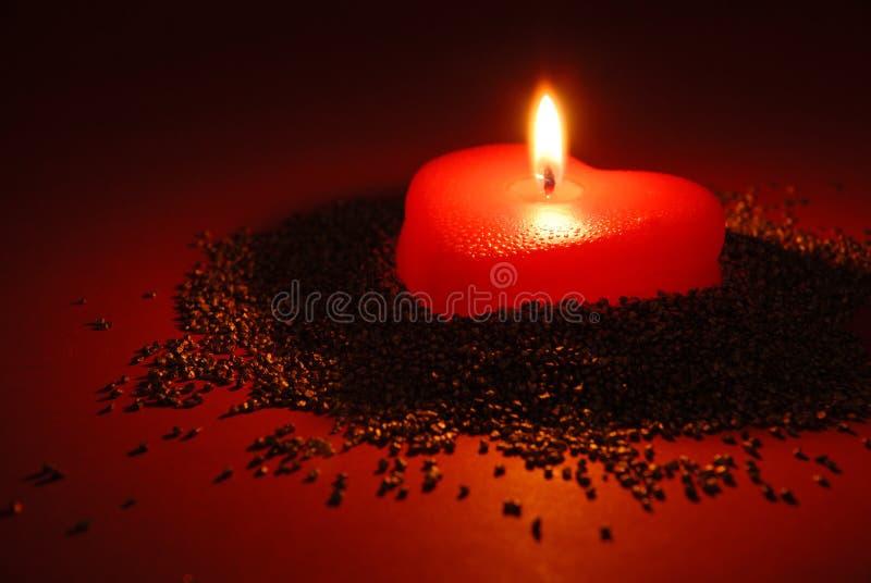 eine romantische kerze stockfoto bild von flamme neigung. Black Bedroom Furniture Sets. Home Design Ideas