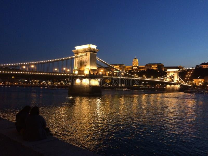 Eine romantische Szene auf der Donau stockfoto