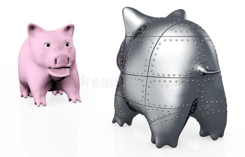 Ein merkwürdigeres Schwein piggy lizenzfreie abbildung