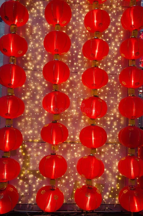Eine rote chinesische Lampe für ein neues Mondjahr kein 7 lizenzfreie stockfotografie