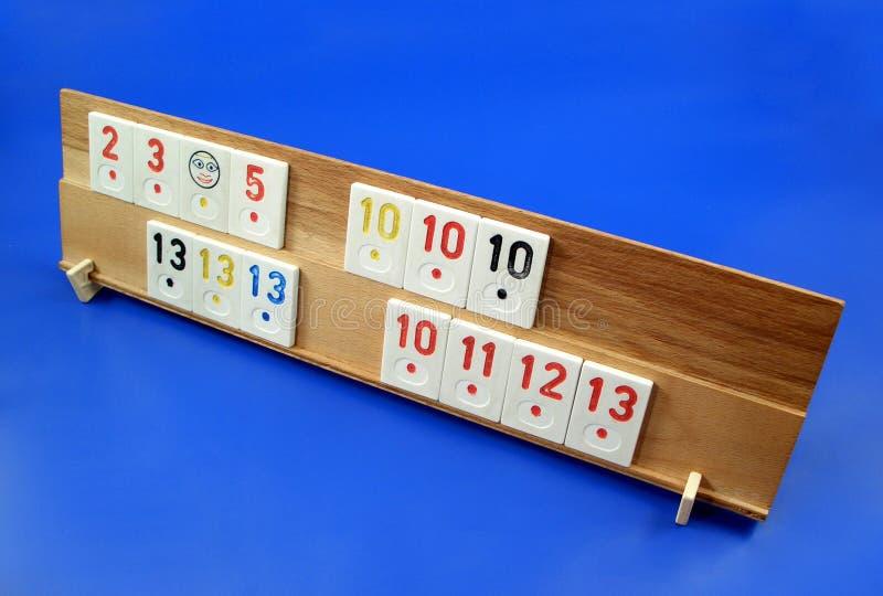 Eine Rummy Tabelle Stockfotografie