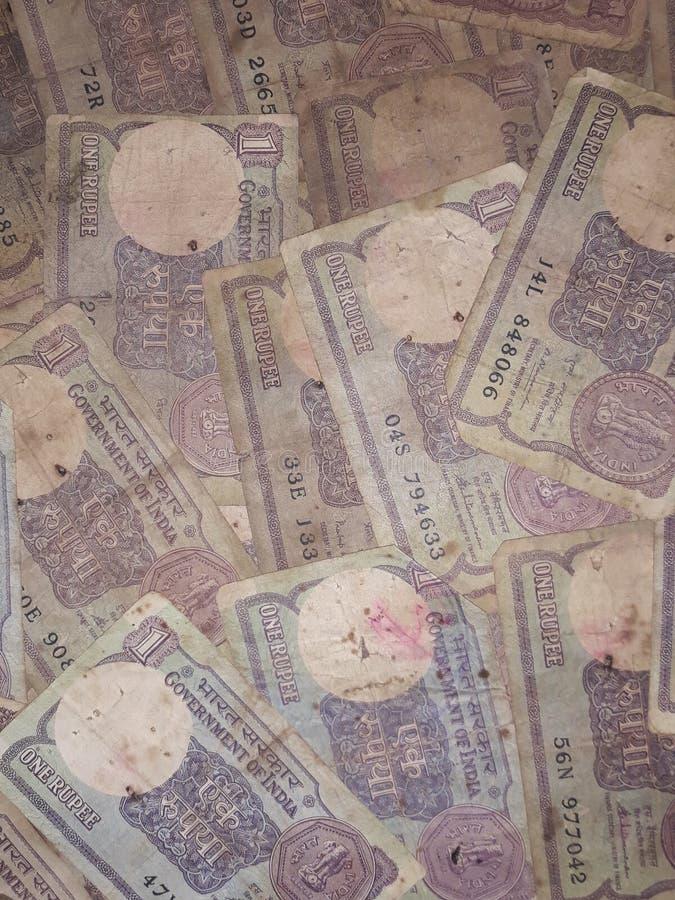 Eine Rupie merkt lizenzfreie stockbilder
