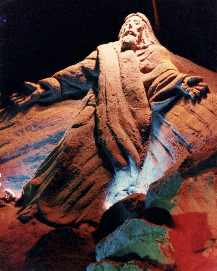 Eine Sandskulptur gemacht in lizenzfreie stockfotografie