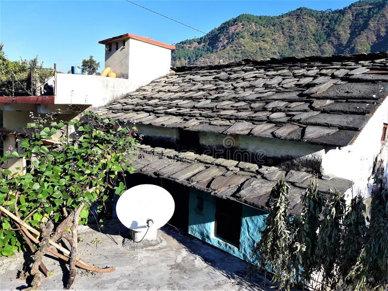 Eine schöne Ansicht von Dorf Haus in Indien stockbilder