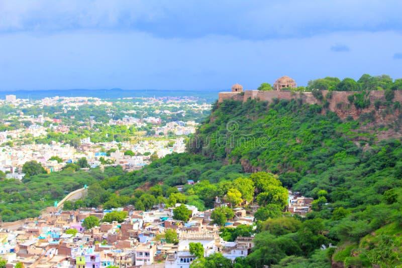 Eine schöne Ansicht von Gwalior-Fort stockfotografie