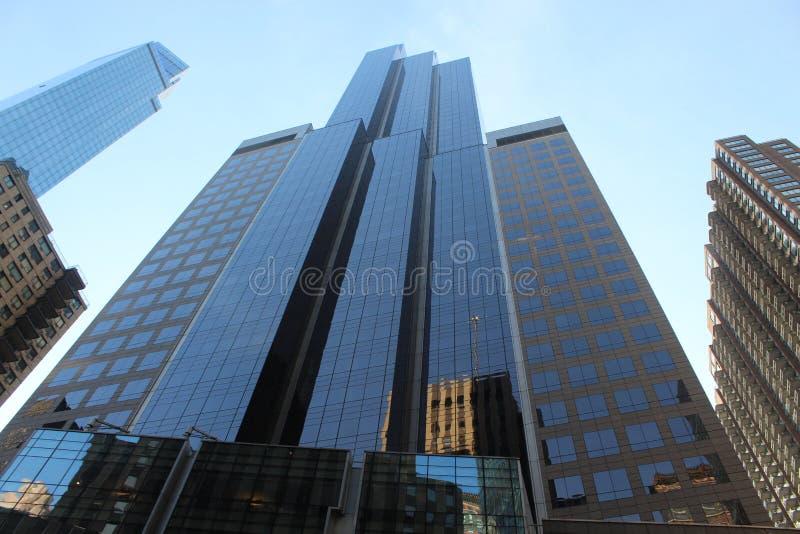 Eine schöne Ansicht von Manhattan-Wolkenkratzern lizenzfreies stockbild
