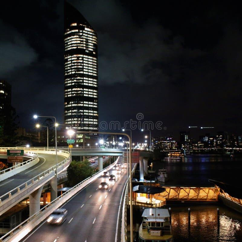 Eine schöne Dezember-Nacht in Brisbane, Australien lizenzfreie stockfotos