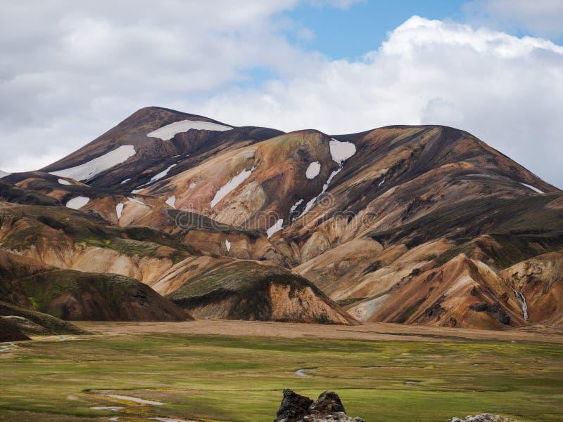 Eine schöne Landschaft von Landmannalaugar, Island lizenzfreies stockfoto
