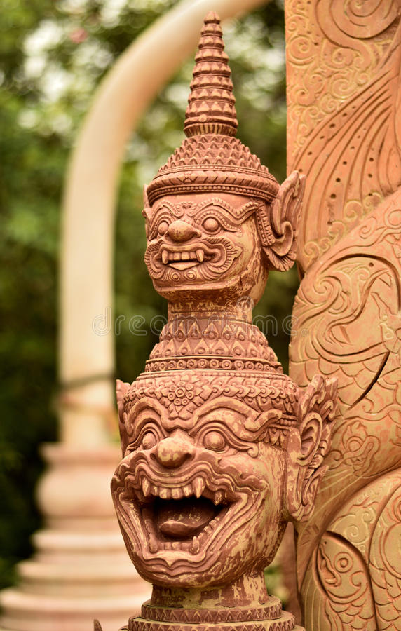 Eine schöne thailändische Kunst lizenzfreie stockfotos
