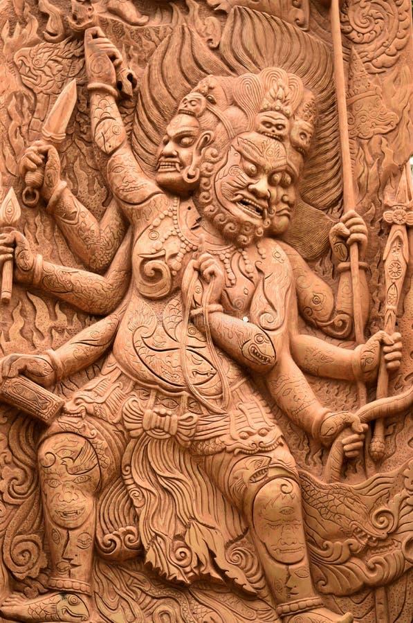 Eine schöne thailändische Kunst lizenzfreies stockfoto