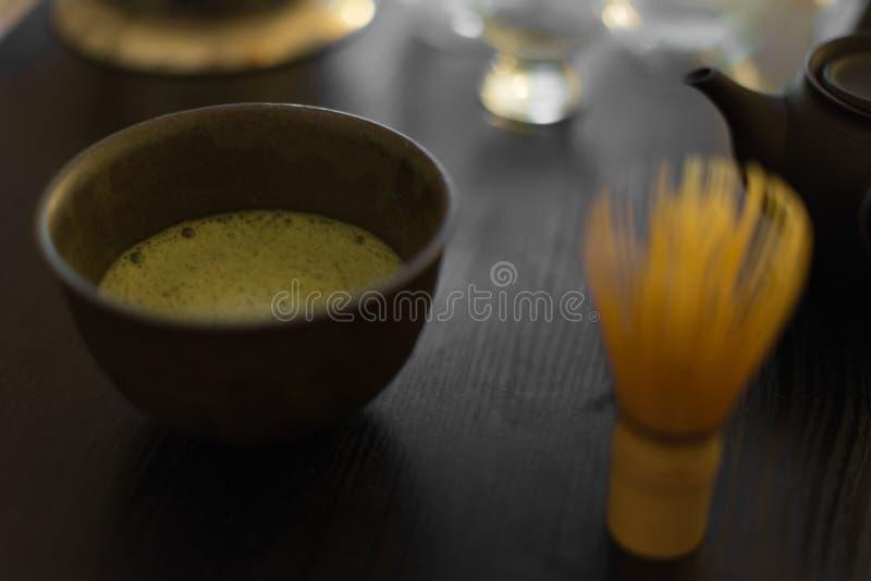 eine Schale Grüner Tee (20131023) lizenzfreie stockfotos