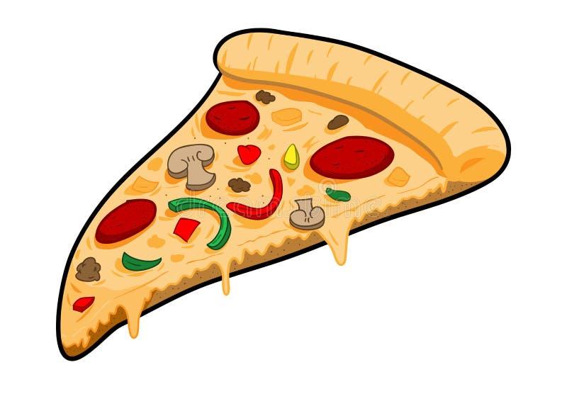 eine Scheibe der Pizza lizenzfreie abbildung