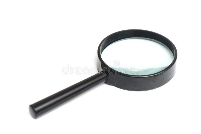Eine schwarze Rahmenlupe stockfotos