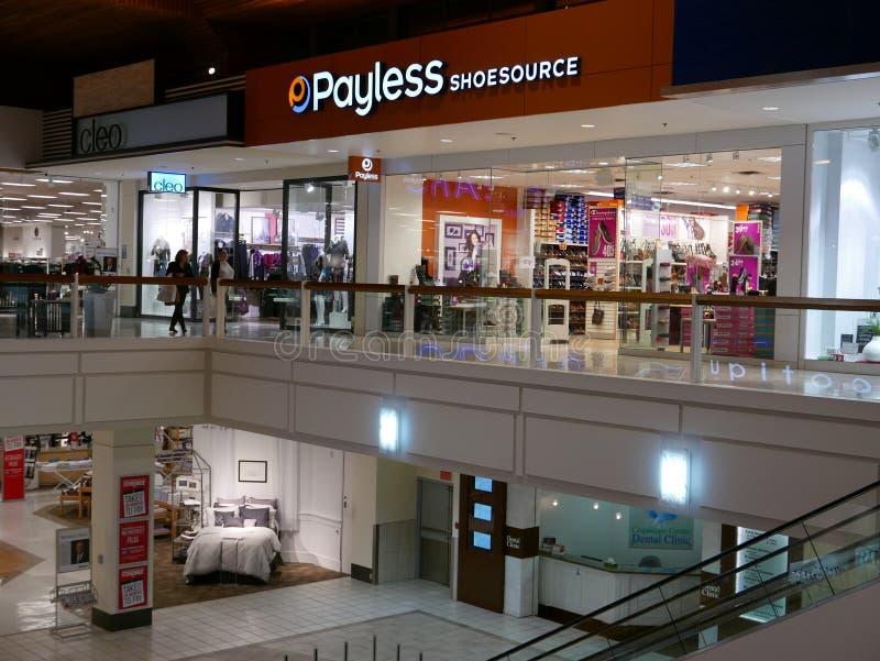 Eine Seite Einkaufszentrum in BC Kanada stockbilder