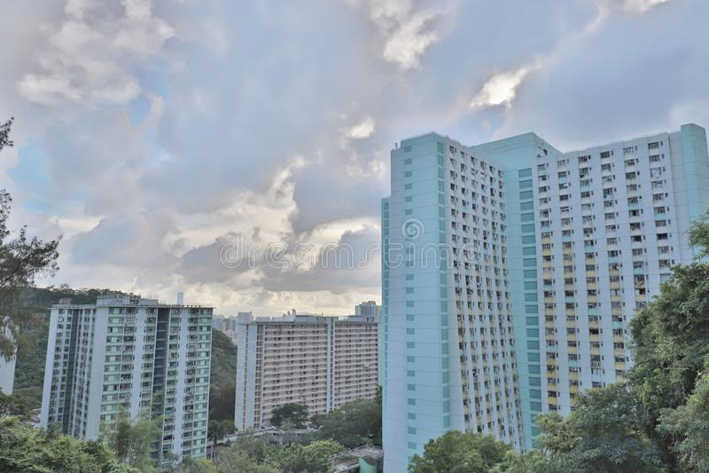eine Shun Lee-Bezirk kwun Zange in Hong Kong stockfotos