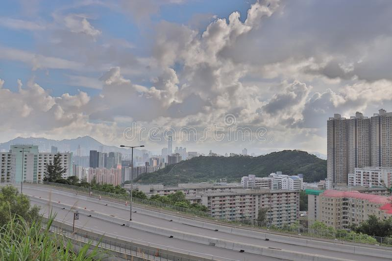 eine Shun Lee-Bezirk kwun Zange in Hong Kong lizenzfreies stockbild