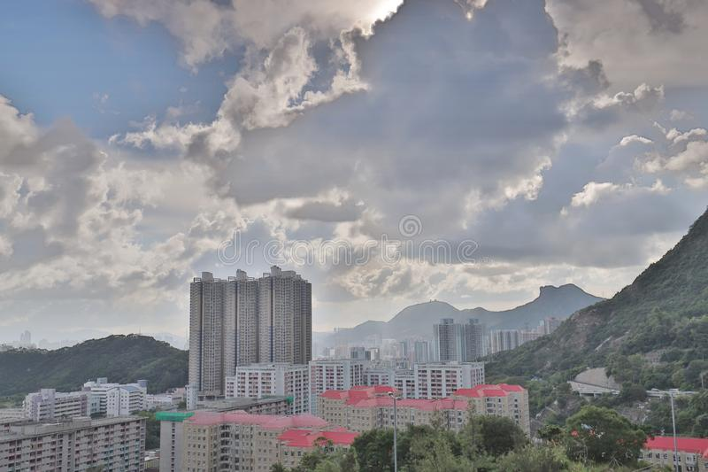eine Shun Lee-Bezirk kwun Zange in Hong Kong lizenzfreies stockfoto