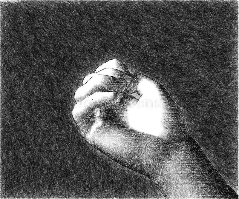 Eine Skizze der Hand