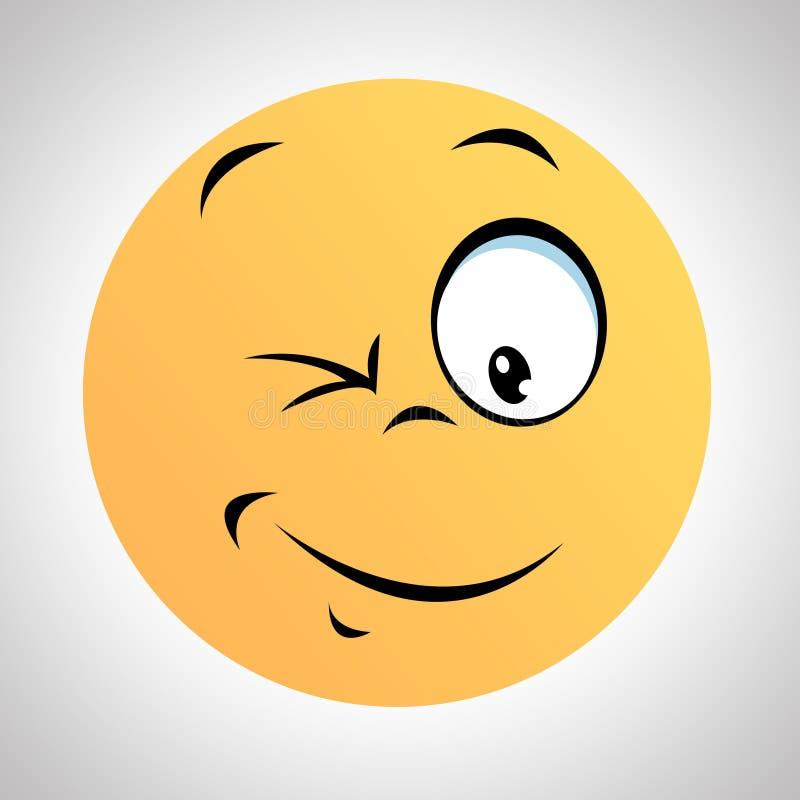 Eine smileyart smileygesicht stock abbildung