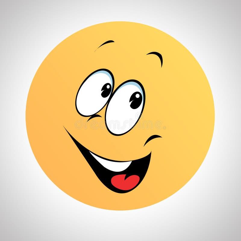 Eine smileyart smileygesicht vektor abbildung