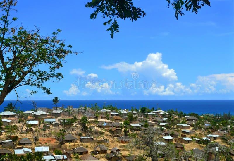 Eine Stadt in Mosambik, Afrika. Küste des Indischen Ozeans. stockfoto