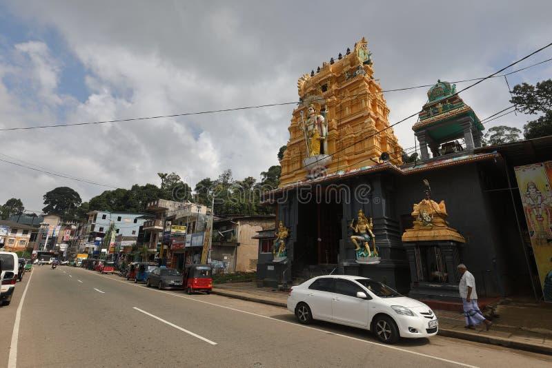 Eine Stadt in Sri Lanka lizenzfreies stockbild
