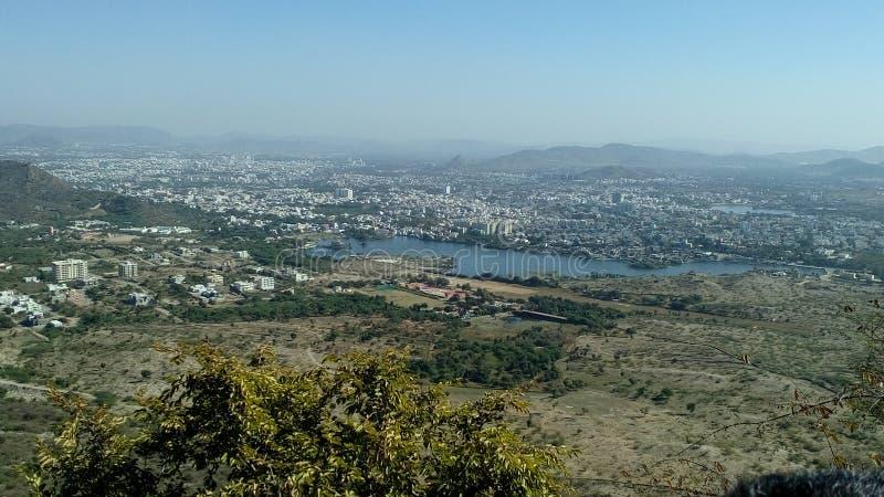 Eine Stadt von oben stockfotografie